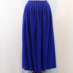 Jessica Howard Royal Blue Polka Dot Maxi Skirt
